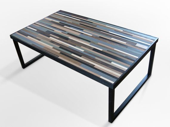 wood coffee table metal legs photo - 7