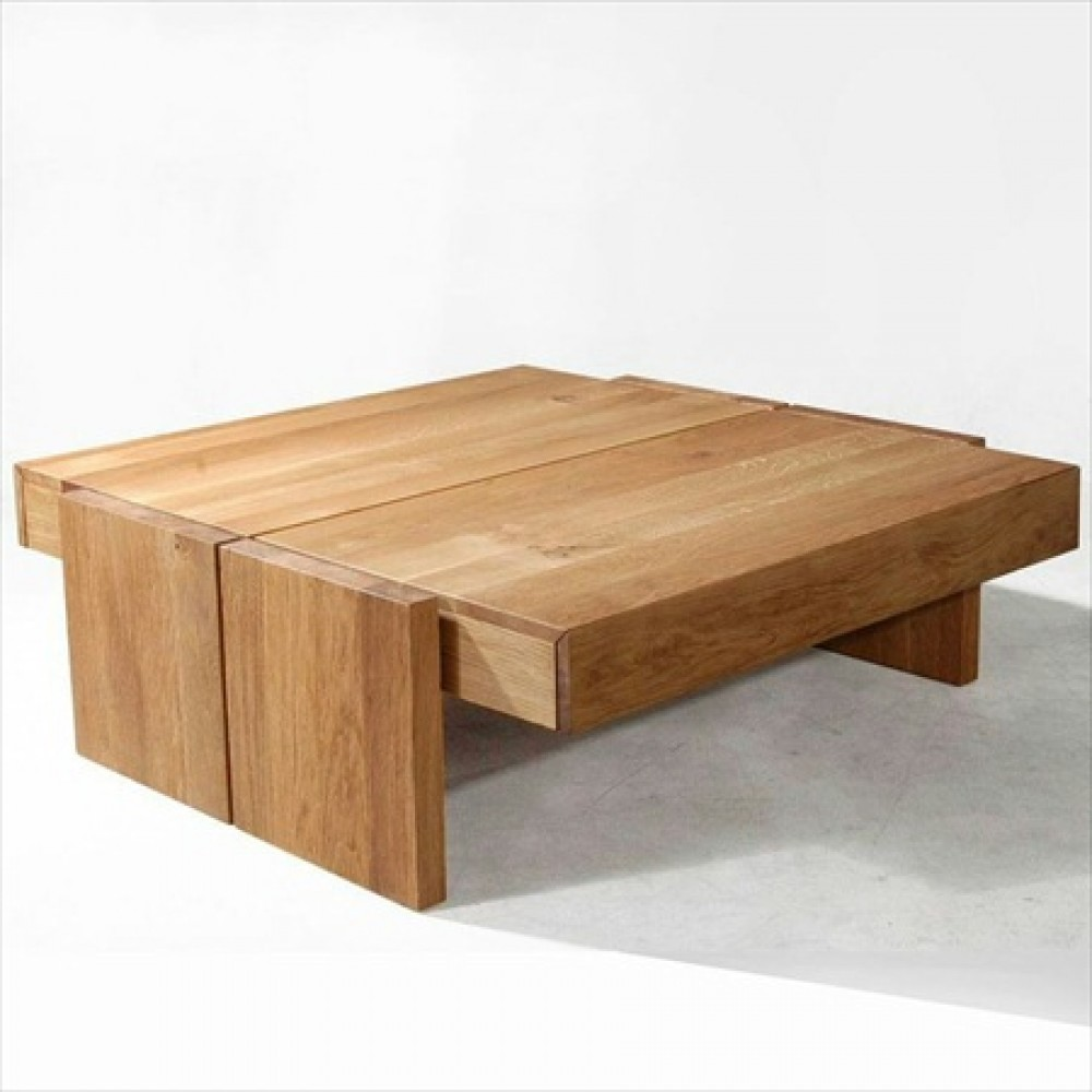 wood coffee table modern photo - 10