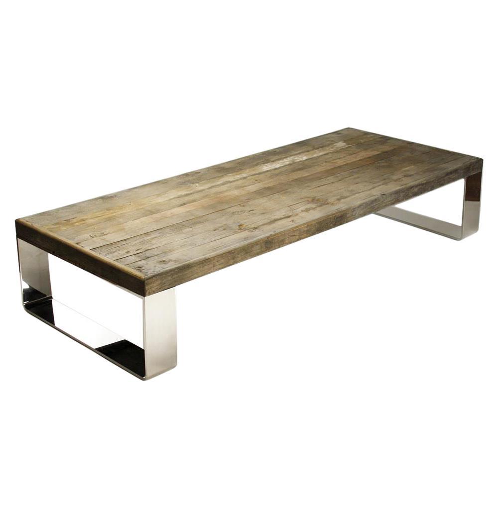 wood coffee table modern photo - 2