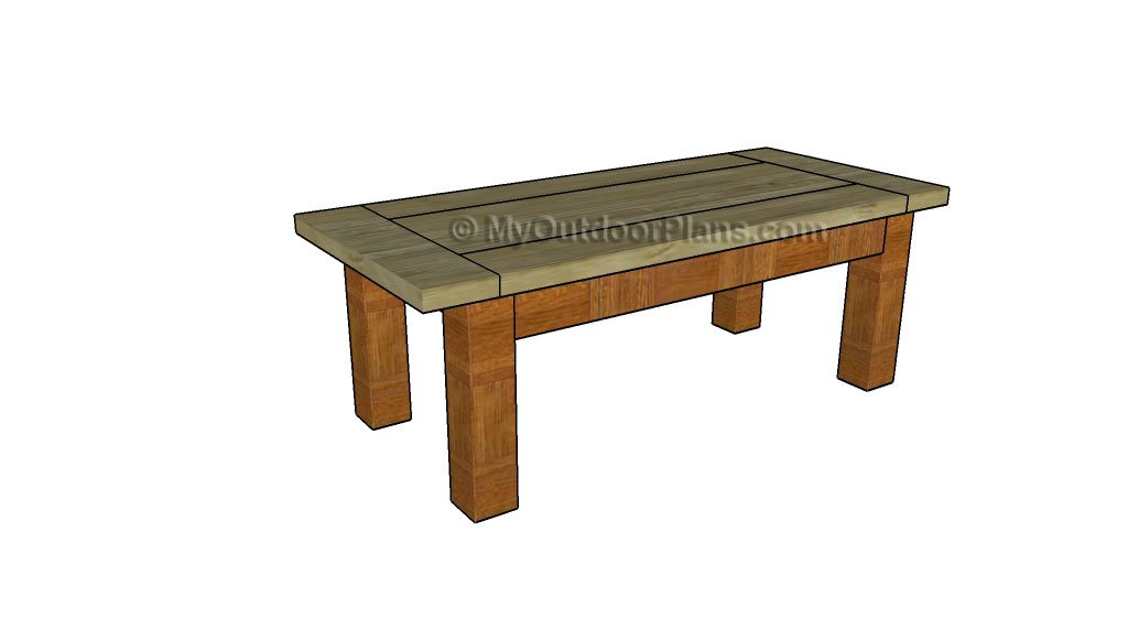 wood coffee table plans free photo - 10