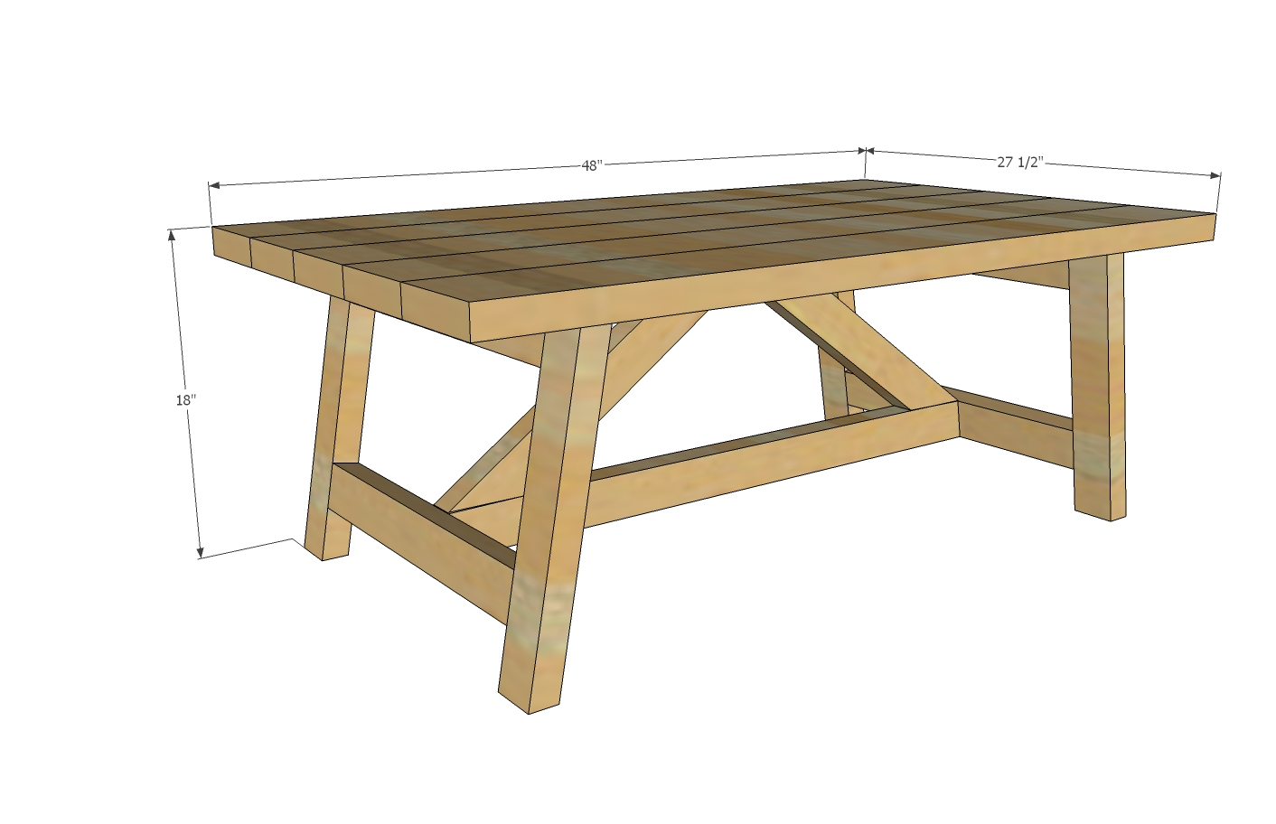 wood coffee table plans free photo - 2