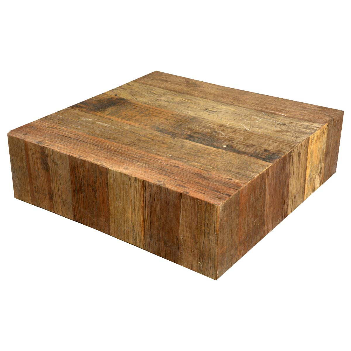 wood coffee table square photo - 6