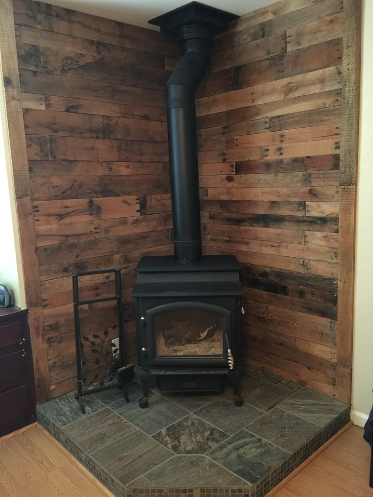Wood stove wall design ideas | Hawk Haven