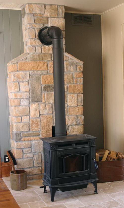 Wood stove wall design ideas | Hawk Haven