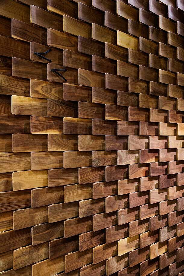 wood wall design photo - 1