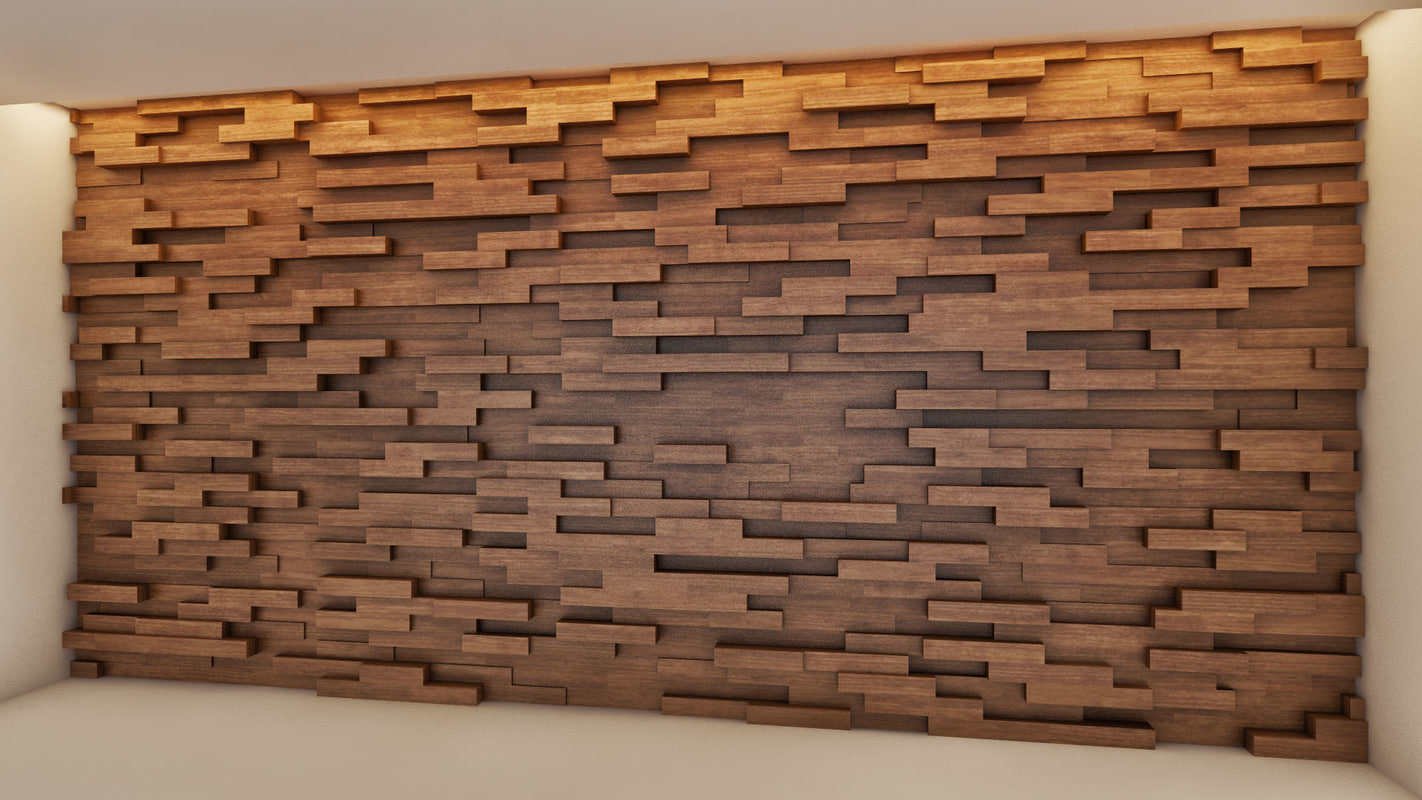 wood wall design photo - 7