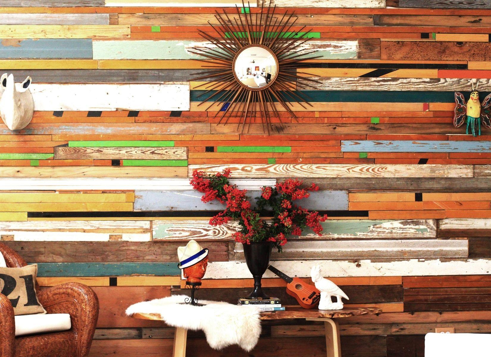 wood wall design sponge photo - 10
