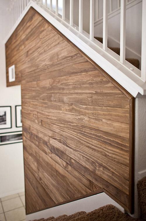 wood wall design sponge photo - 5