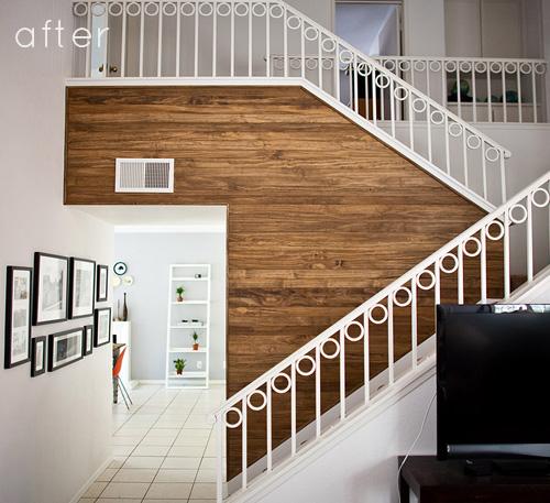 wood wall design sponge photo - 8