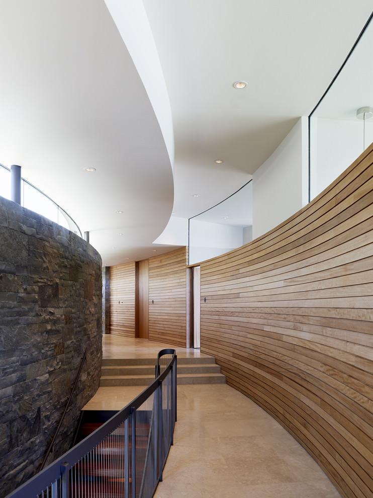 wood wall interior design photo - 10