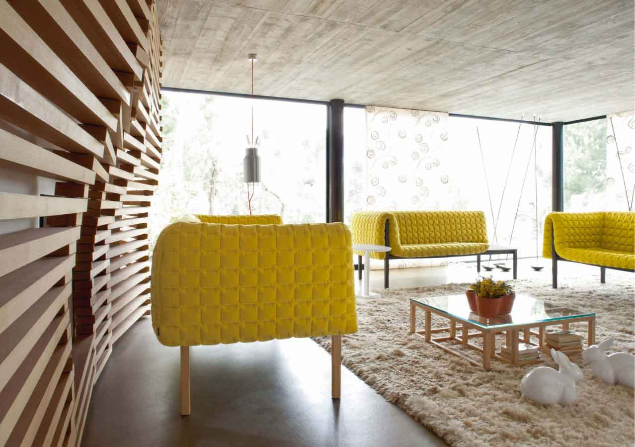 wood wall interior design photo - 5