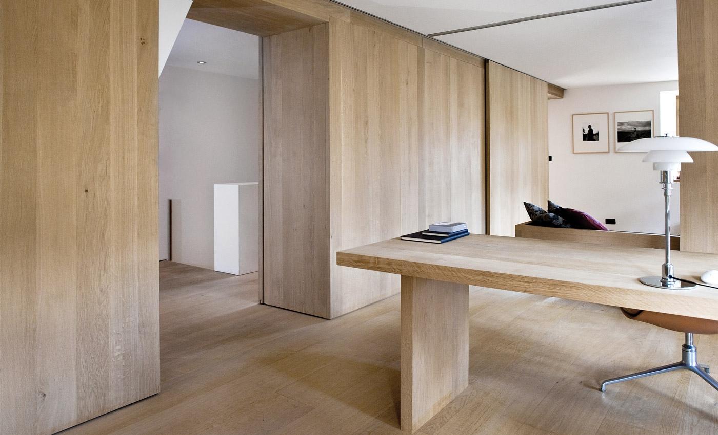 wood wall interior design photo - 7