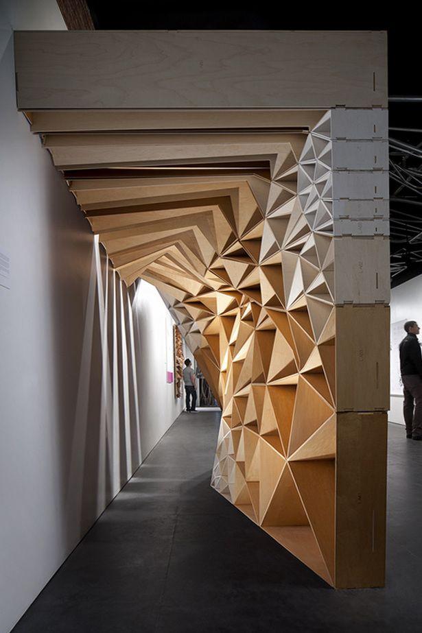wood wall interior design photo - 8