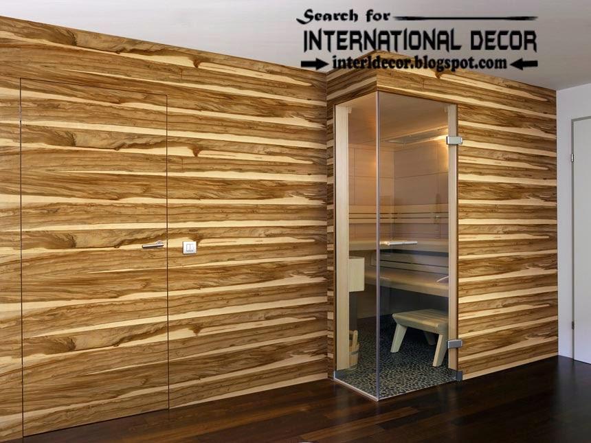 wood wall panel design photo - 2