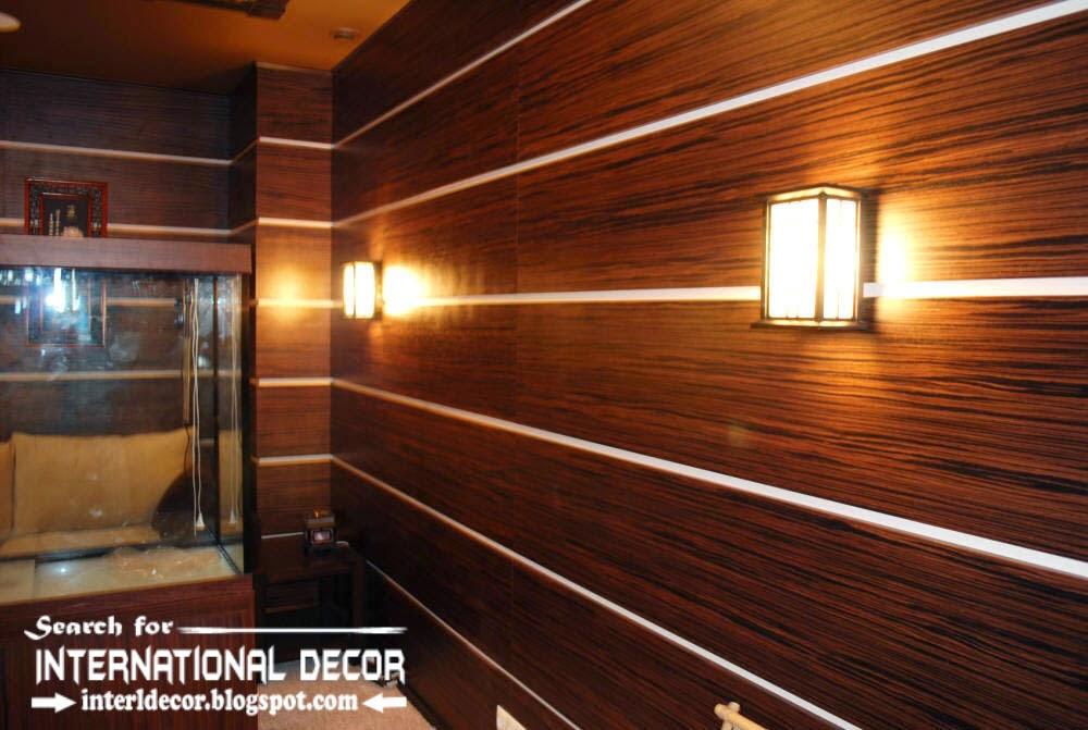 wood wall panel design photo - 3