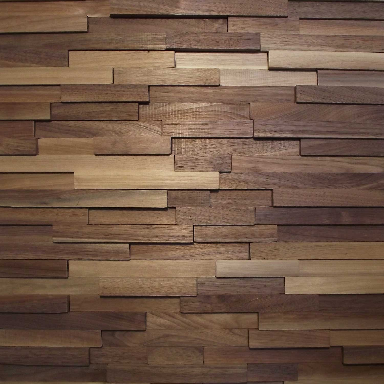 wood wall panel design photo - 5
