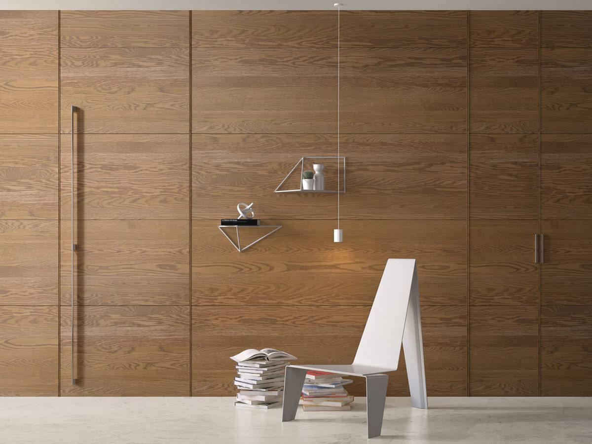 wood wall panel design photo - 8