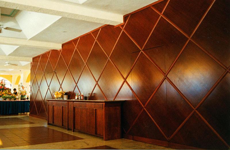 wood wall panel design photo - 9