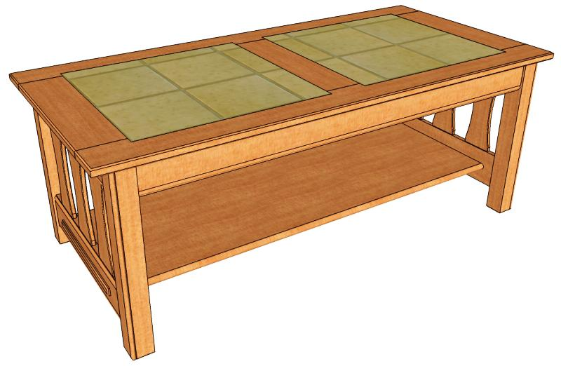 wooden coffee table design plans photo - 4