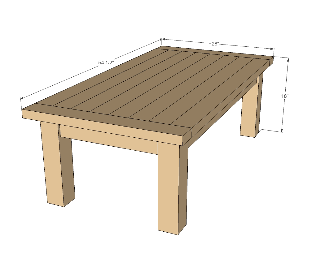 wooden coffee table design plans photo - 5