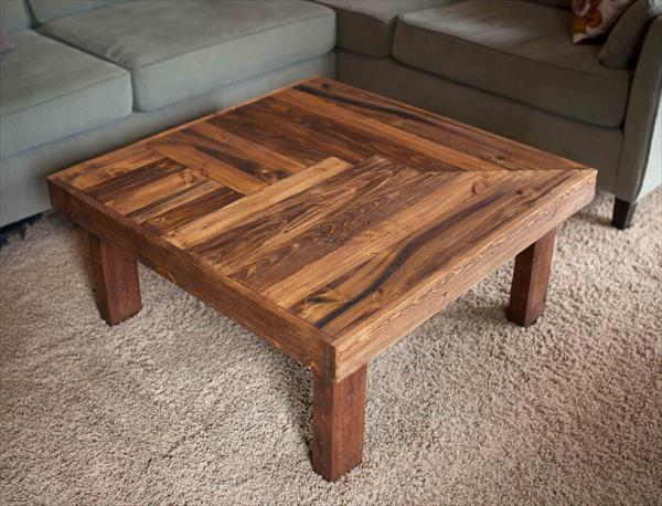 wooden coffee table design plans photo - 8