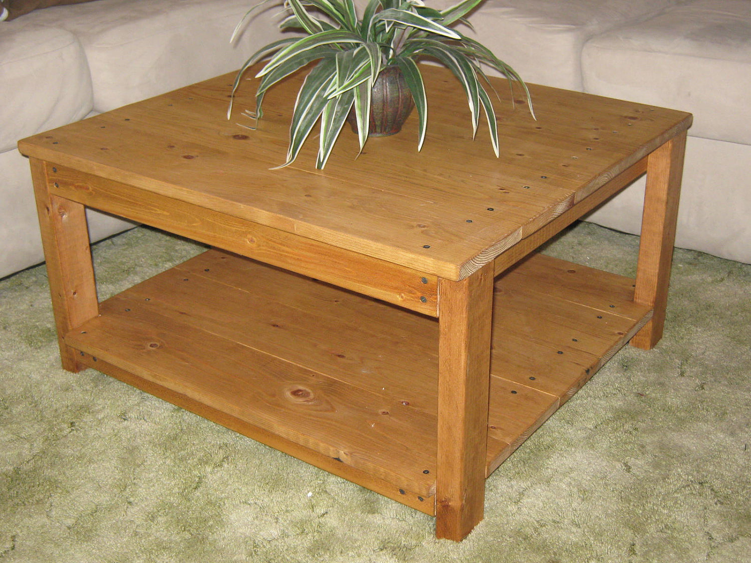wooden coffee table designs photo - 10
