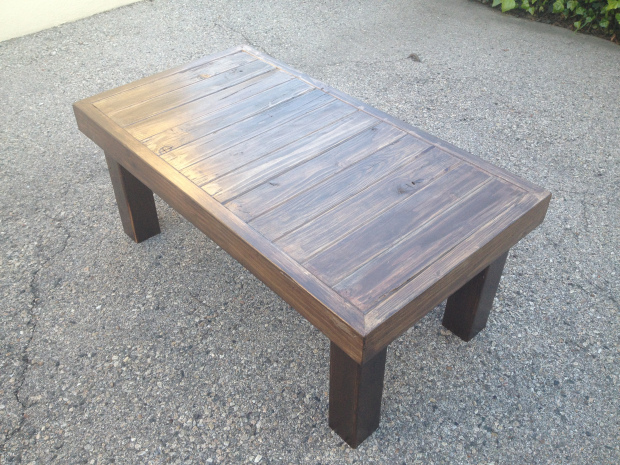 wooden coffee table plans photo - 7