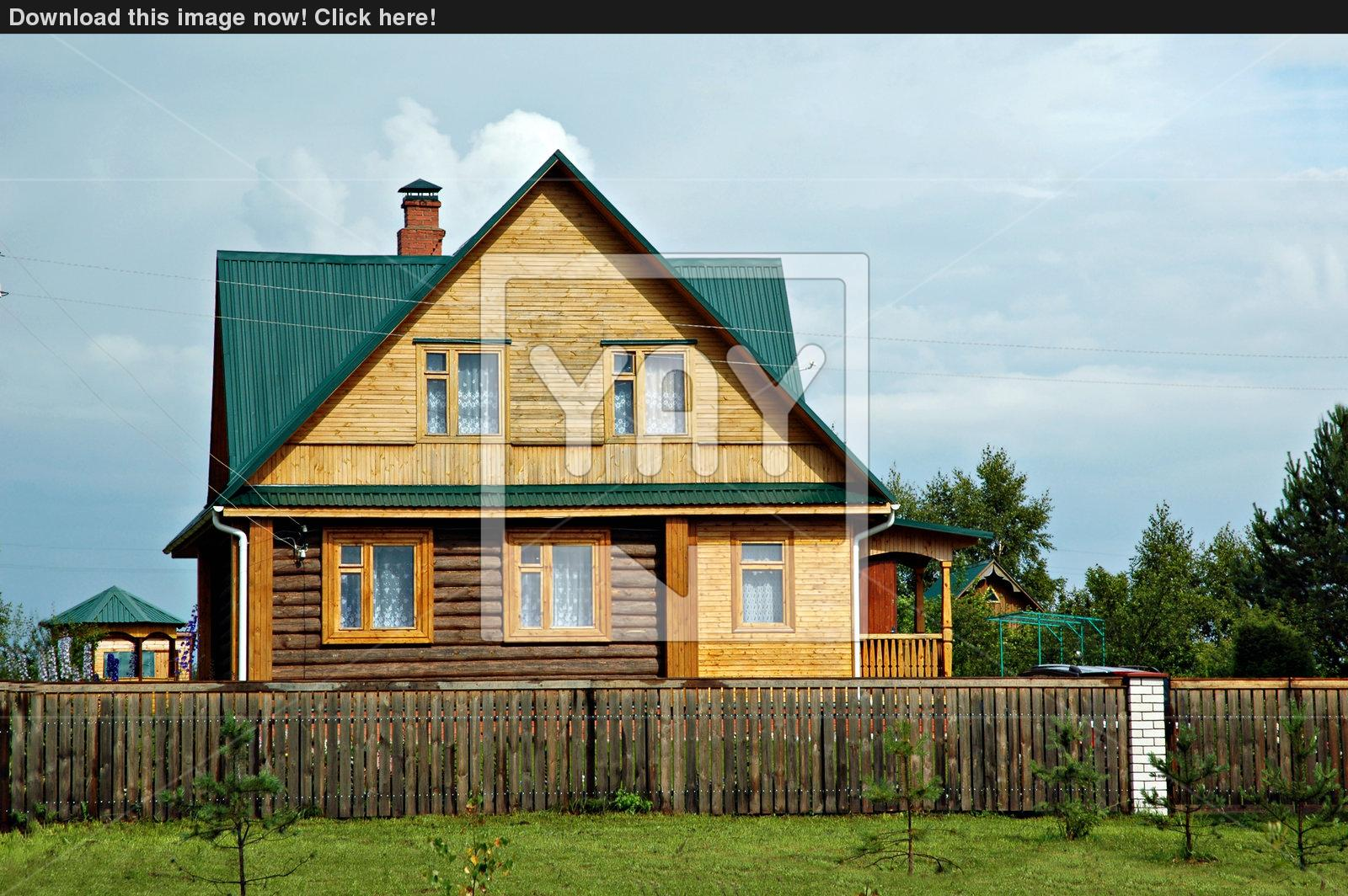 wooden country house photo - 2