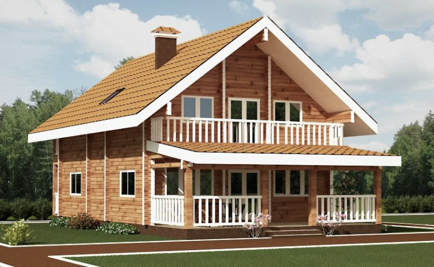wooden country house design photo - 3