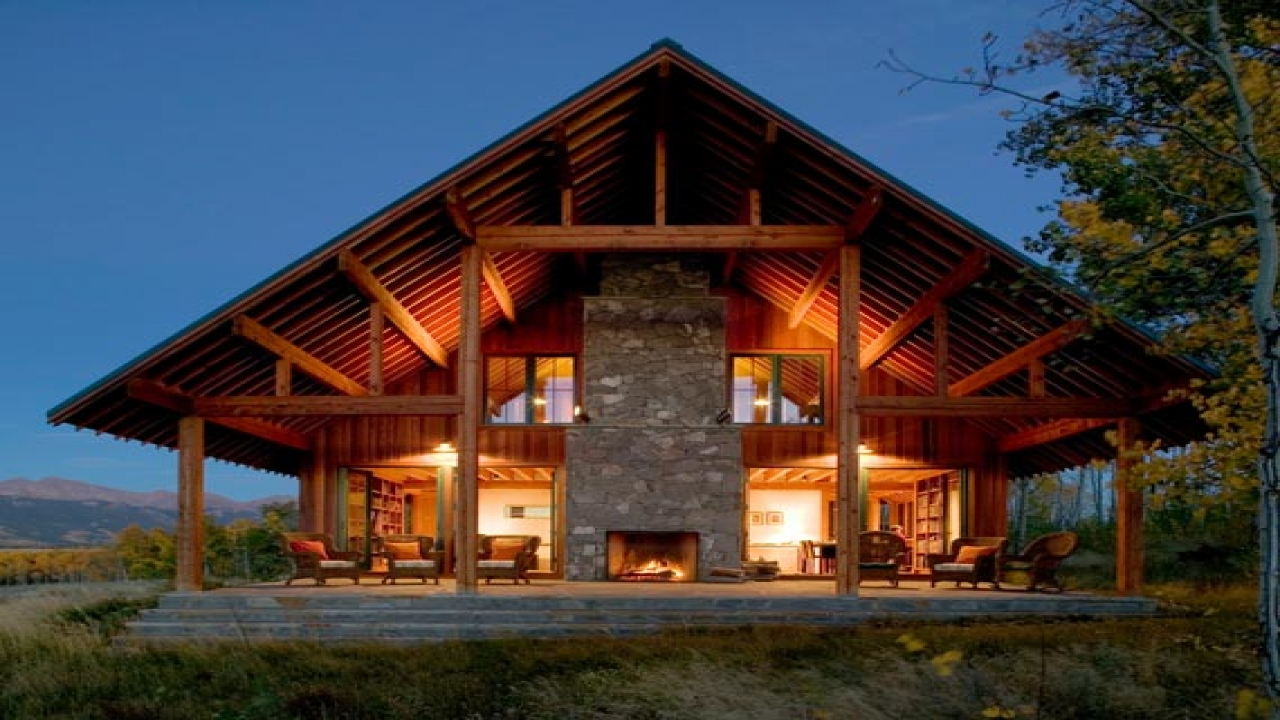 wooden country house design photo - 5
