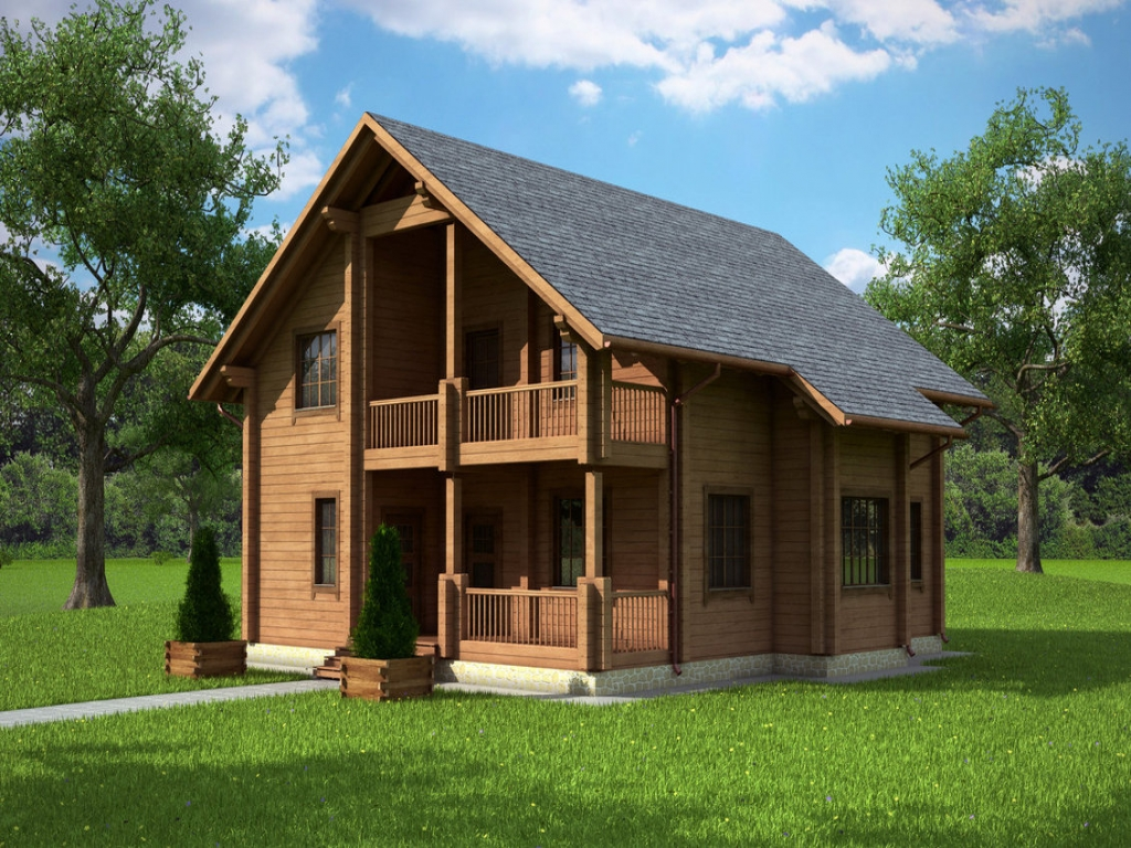 wooden country house design photo - 7