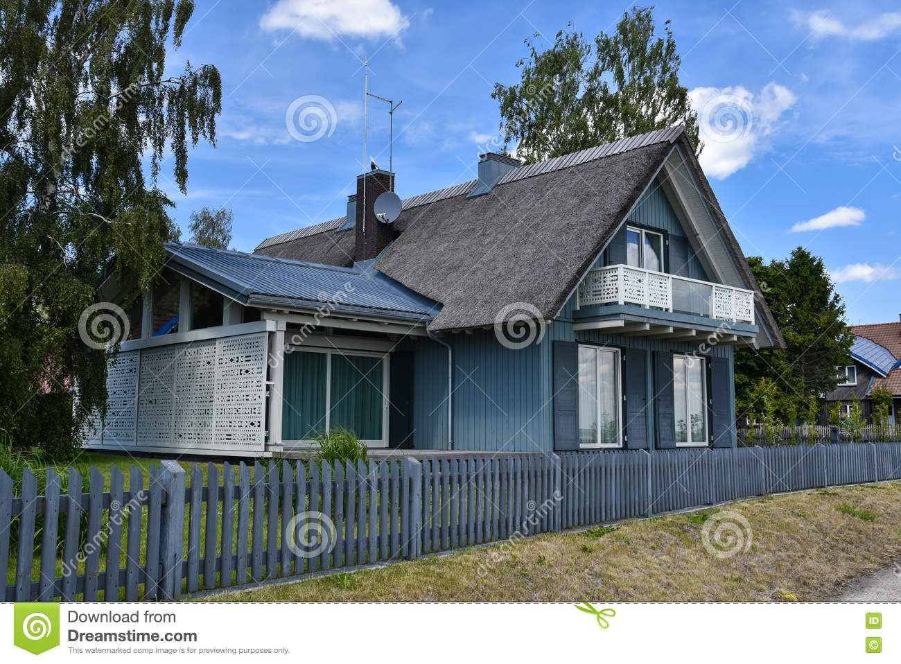 wooden country house exterior scene photo - 7
