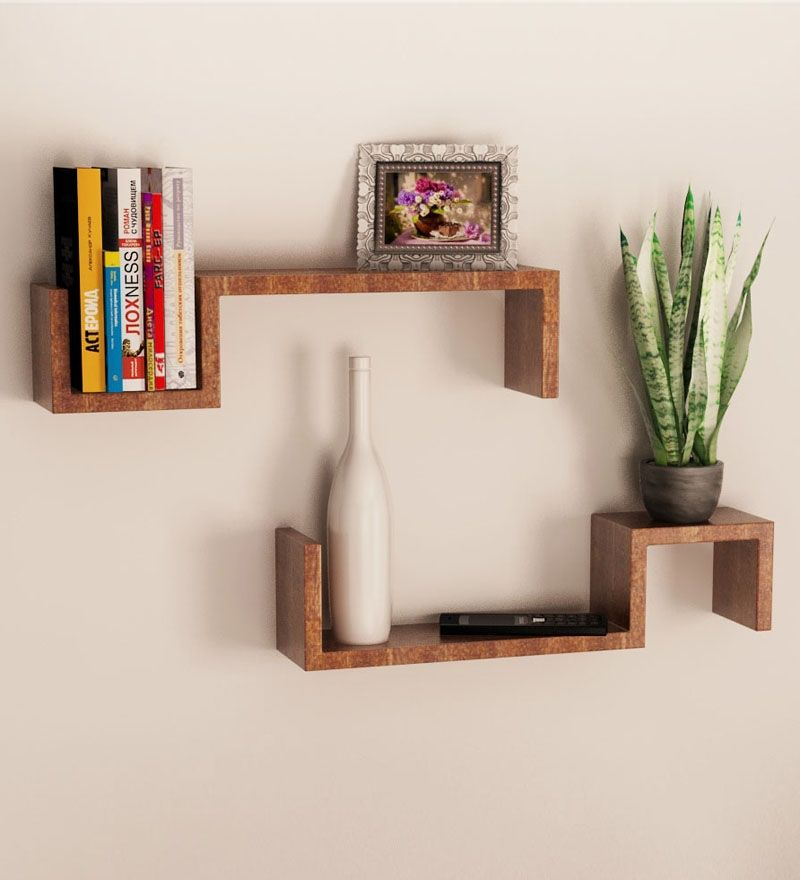 wooden decorative wall shelves photo - 10