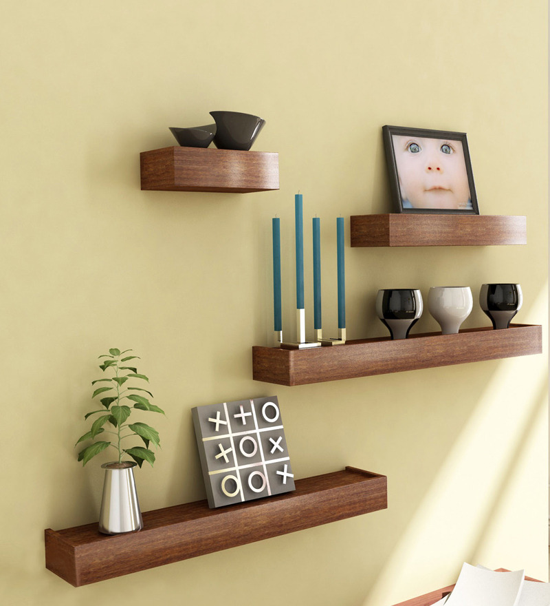 wooden decorative wall shelves photo - 2