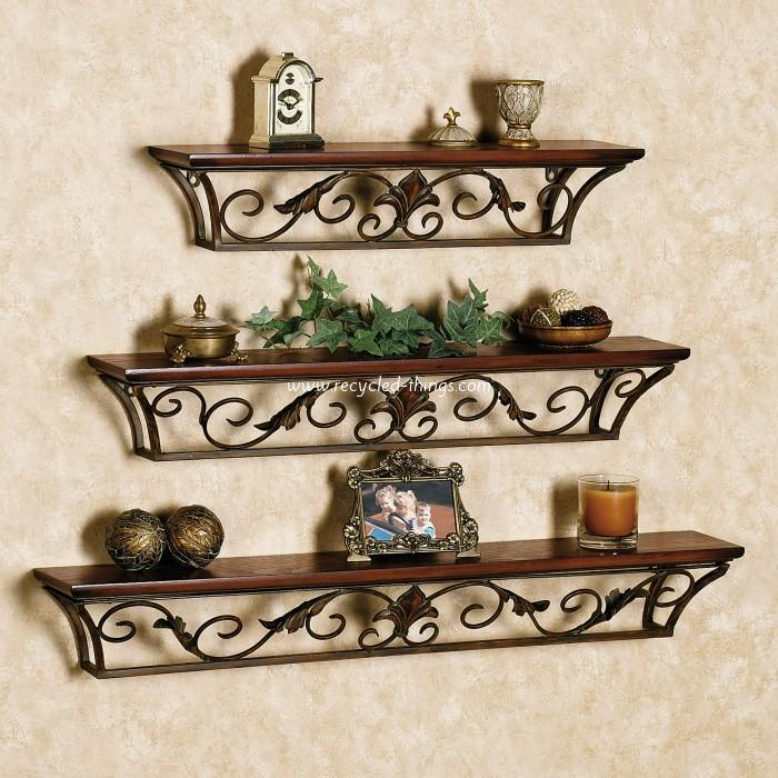 wooden decorative wall shelves photo - 3