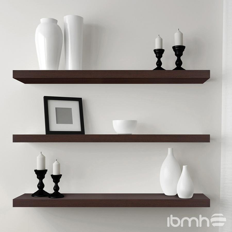 wooden decorative wall shelves photo - 7