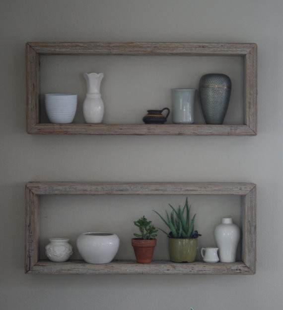 wooden decorative wall shelves photo - 8