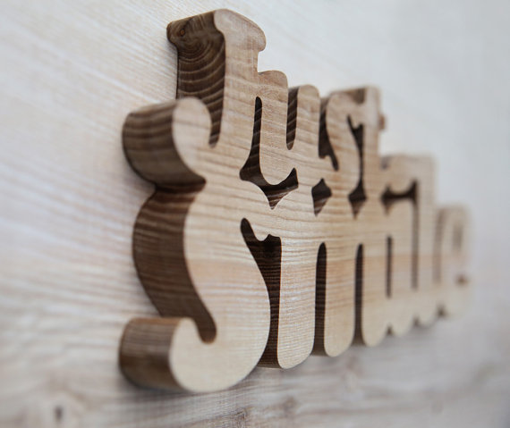 wooden decorative wall words photo - 1