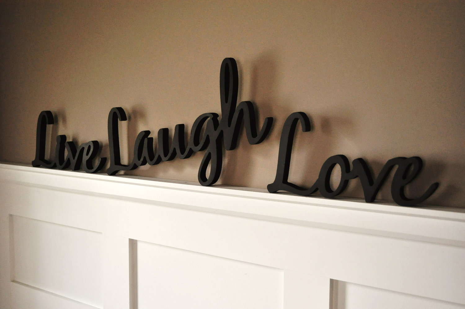 wooden decorative wall words photo - 10