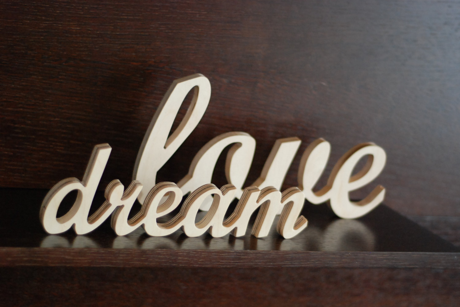 wooden decorative wall words photo - 2