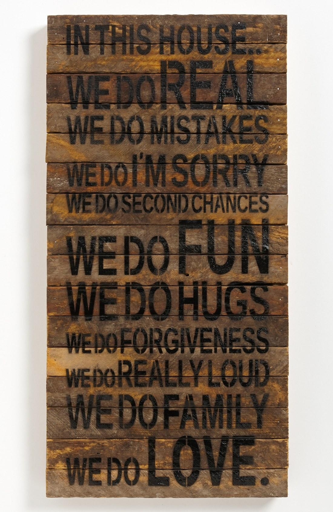 wooden decorative wall words photo - 4