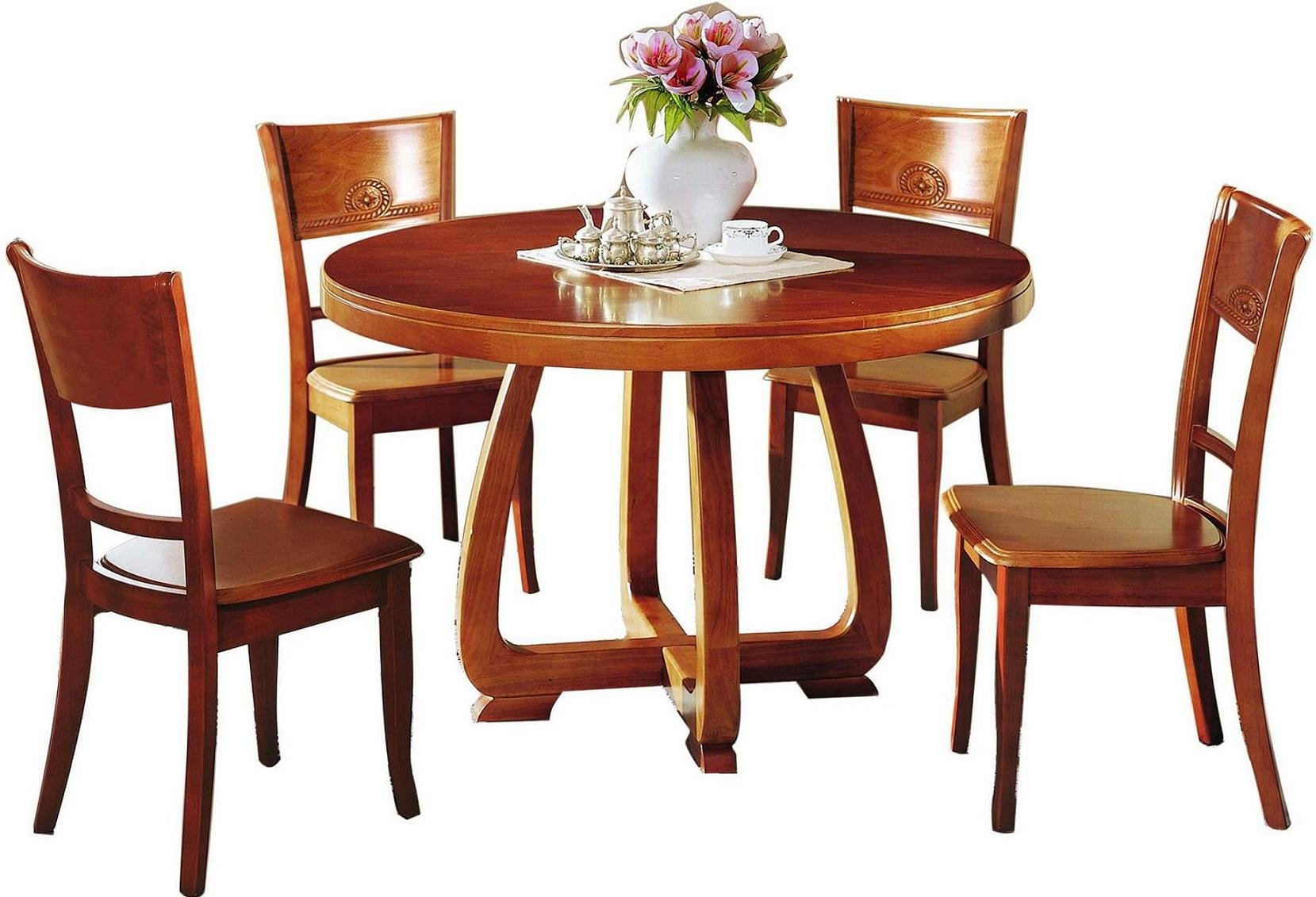 wooden dining tables and chairs photo - 8