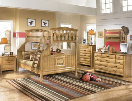 wooden furniture for kids bedroom photo - 1