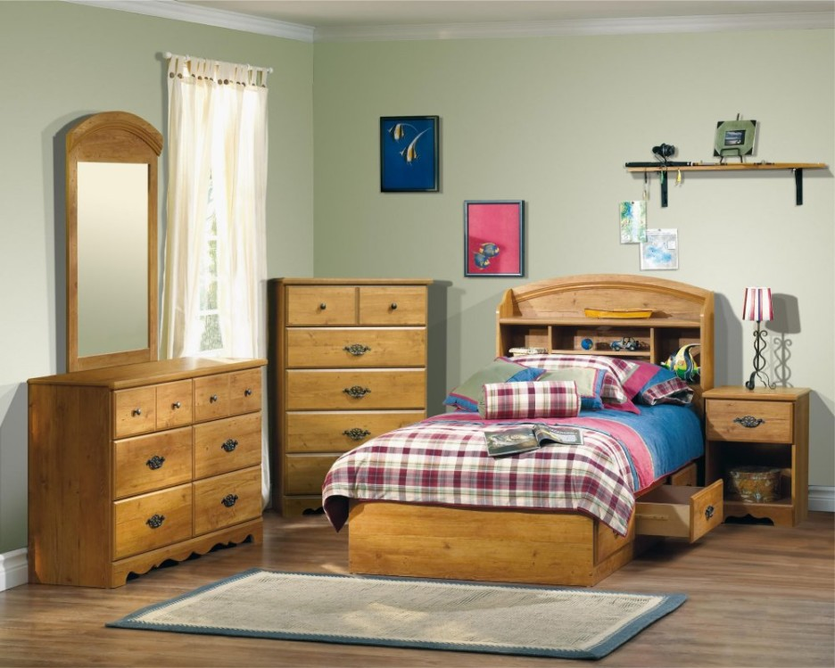 wooden furniture for kids bedroom photo - 8