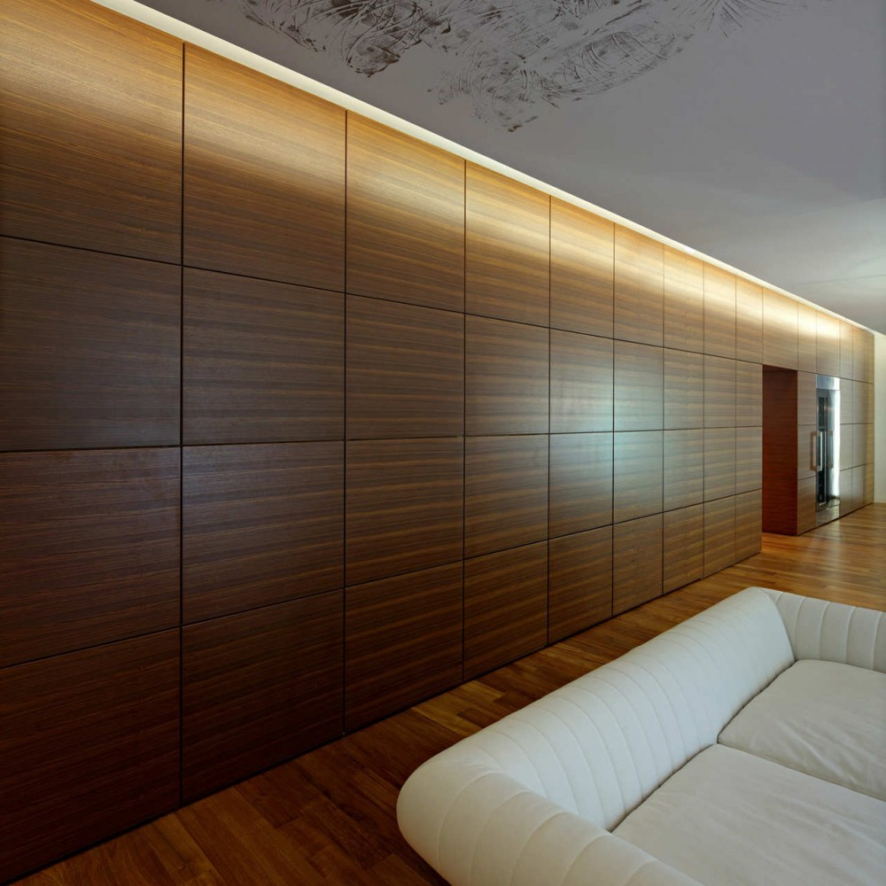 wooden wall design interior photo - 2
