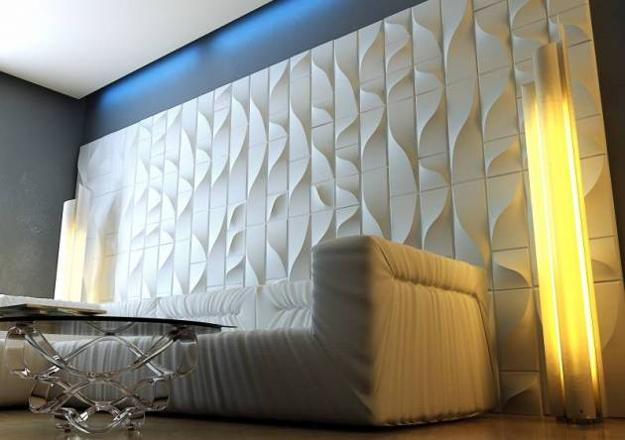 wooden wall design interior photo - 7