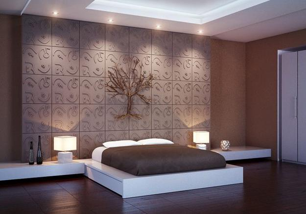 wooden wall design interior photo - 8