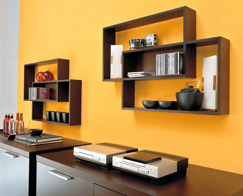 wooden wall shelves design photo - 10