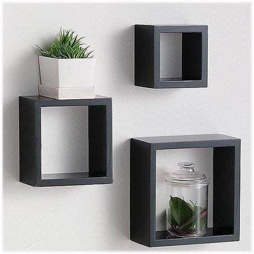 wooden wall shelves design photo - 2