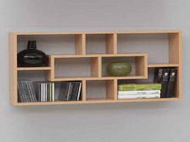 wooden wall shelves design photo - 3